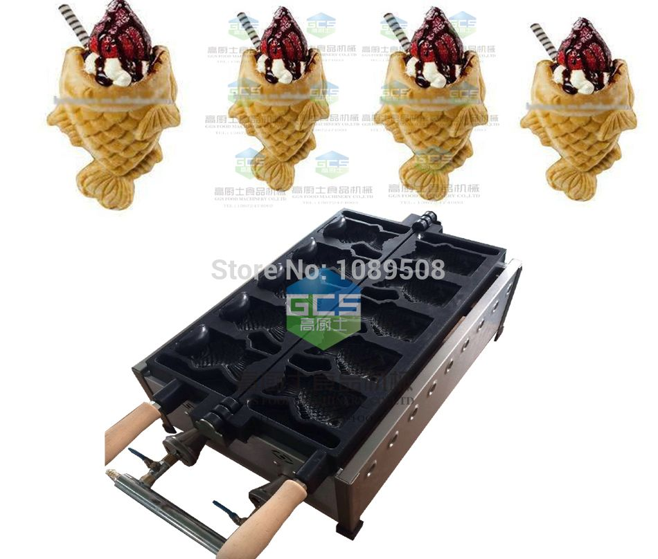 Types Of Cone Shapes: GAS Type Open Mouth Taiyaki Machine Fish Shape Ice Cream