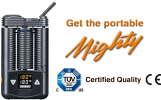 MIGHTY portable vaporizer sets you free whereever you go!
