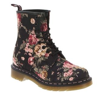 Buy Black Dr. Martens Women's 1460 8 Eye Victorian Flowers Lace-Up Boot shoes