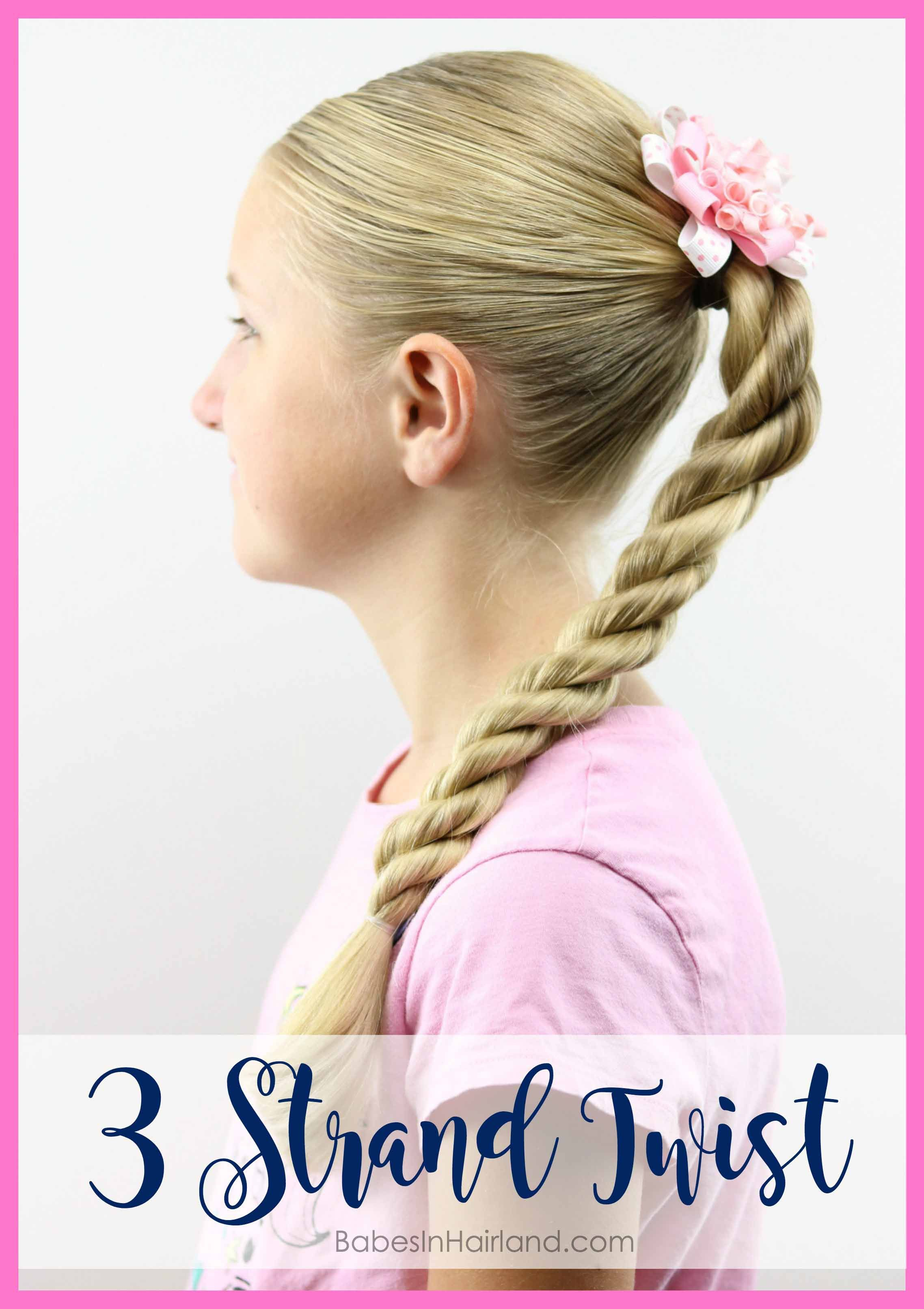 Try a triple twist for a quick backtoschool style twists hold