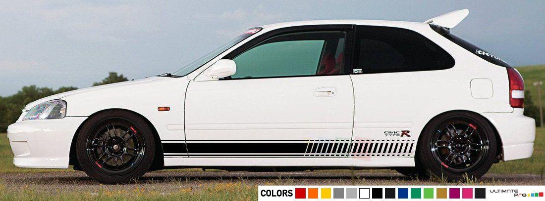 2x Decal Sticker Vinyl Side Racing Stripes Compatible With Honda Civic Type R Ek9 1997 1998 1999 2000 Honda Civic Honda Civic Type R Vinyl Siding