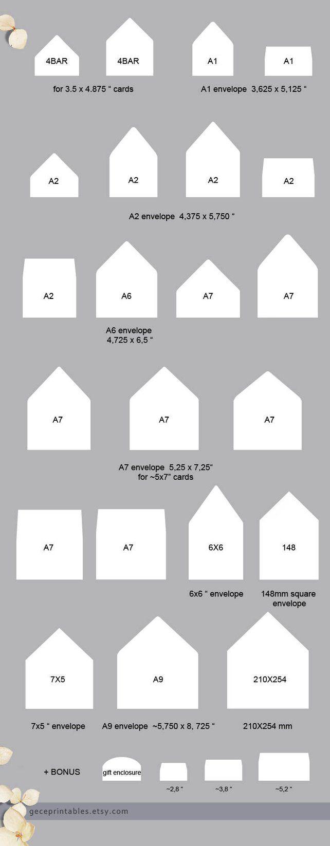 Confetti Envelope Liner Template Printable