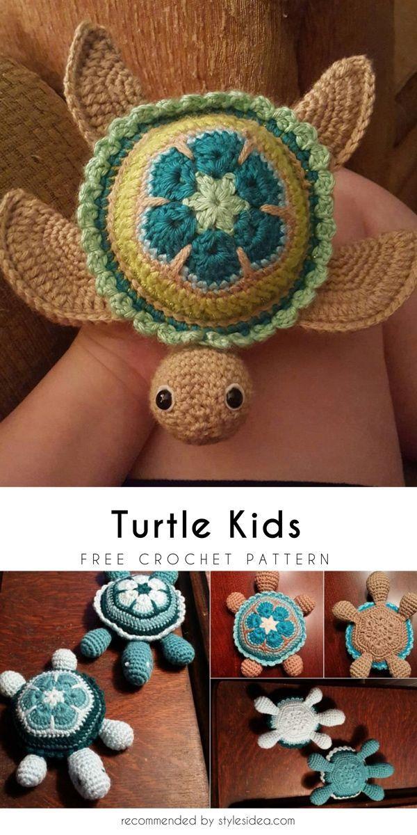 hæklet turtles