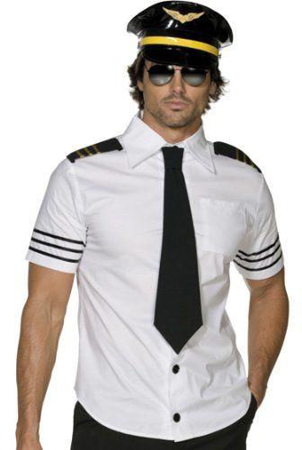 Mile High Captain Mens Pilot Shirt Stripper Halloween « Blast Gifts  sc 1 st  Pinterest & Mile High Captain Mens Pilot Shirt Stripper Halloween « Blast Gifts ...