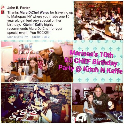 DJ CHEF Kids Party Long Island Cooking Cook Birthday Camp School Event Ny Nj Connecticut Ct Westchester Staten Jersey Nyc Bronx DJChefKids