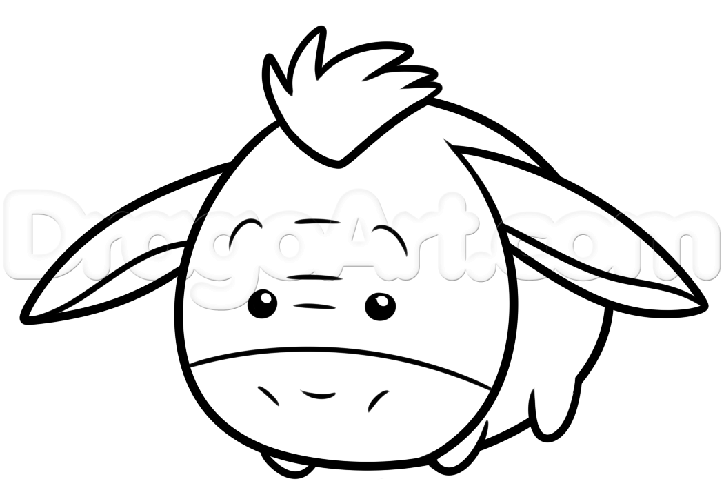 Colorear Tsum Tsum Cenicienta Tsum Tsum Dibujo Para: How To Draw Tsum Tsum Eeyore Step 5