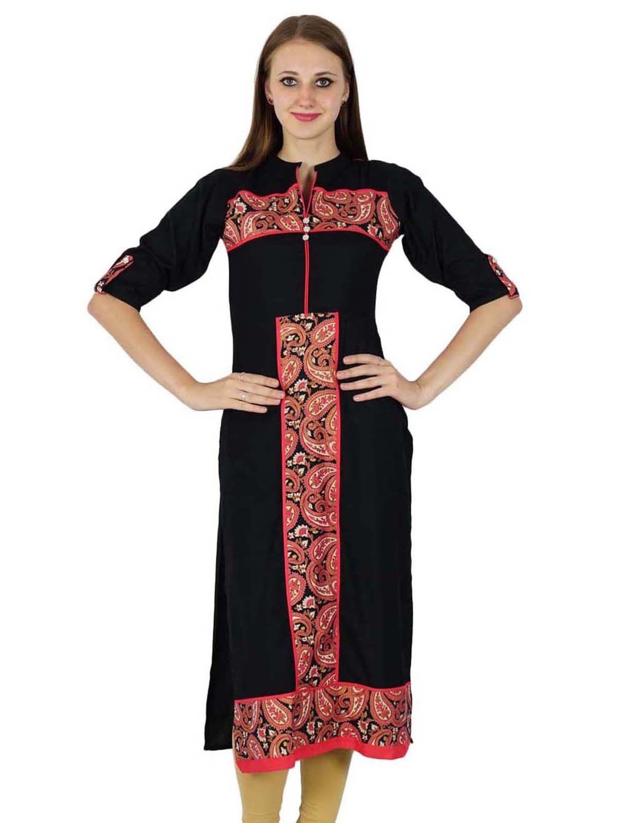 Indian cotton kurti top bollywood women printed kurta ethnic tunic