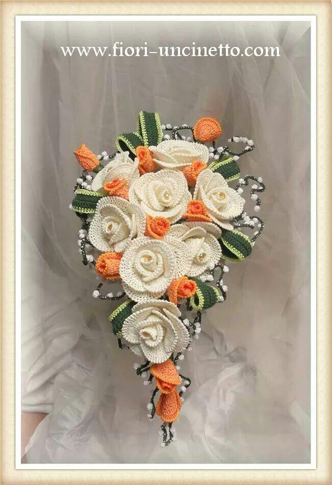 Bouquet Sposa Uncinetto Tutorial.Bouquet Sposa Al Uncinetto Fiori All Uncinetto Uncinetto Fiori