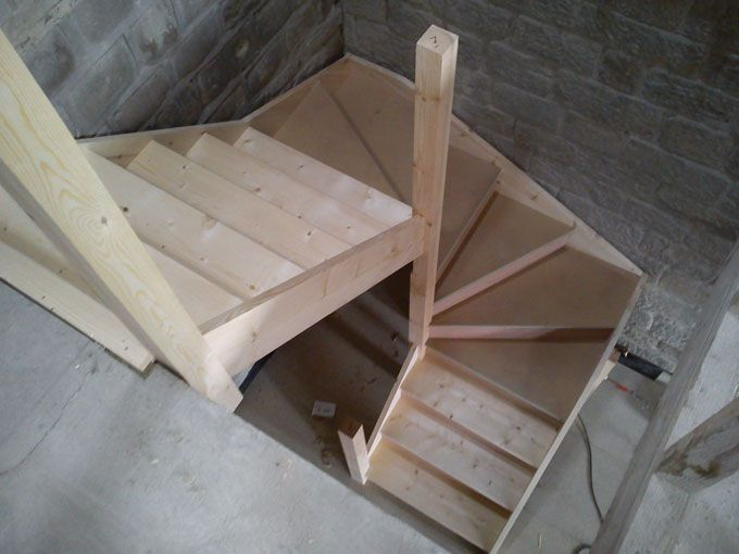 stairs double winder google search stairs attic. Black Bedroom Furniture Sets. Home Design Ideas