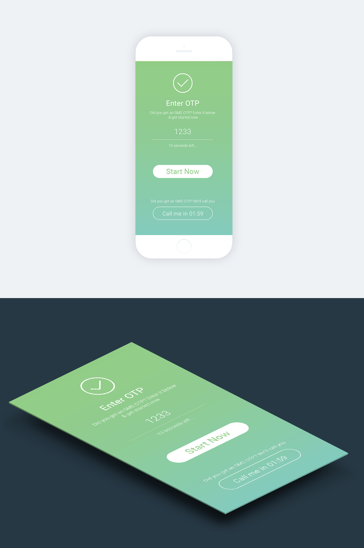 Check Out This Behance Project One Time Password Otp