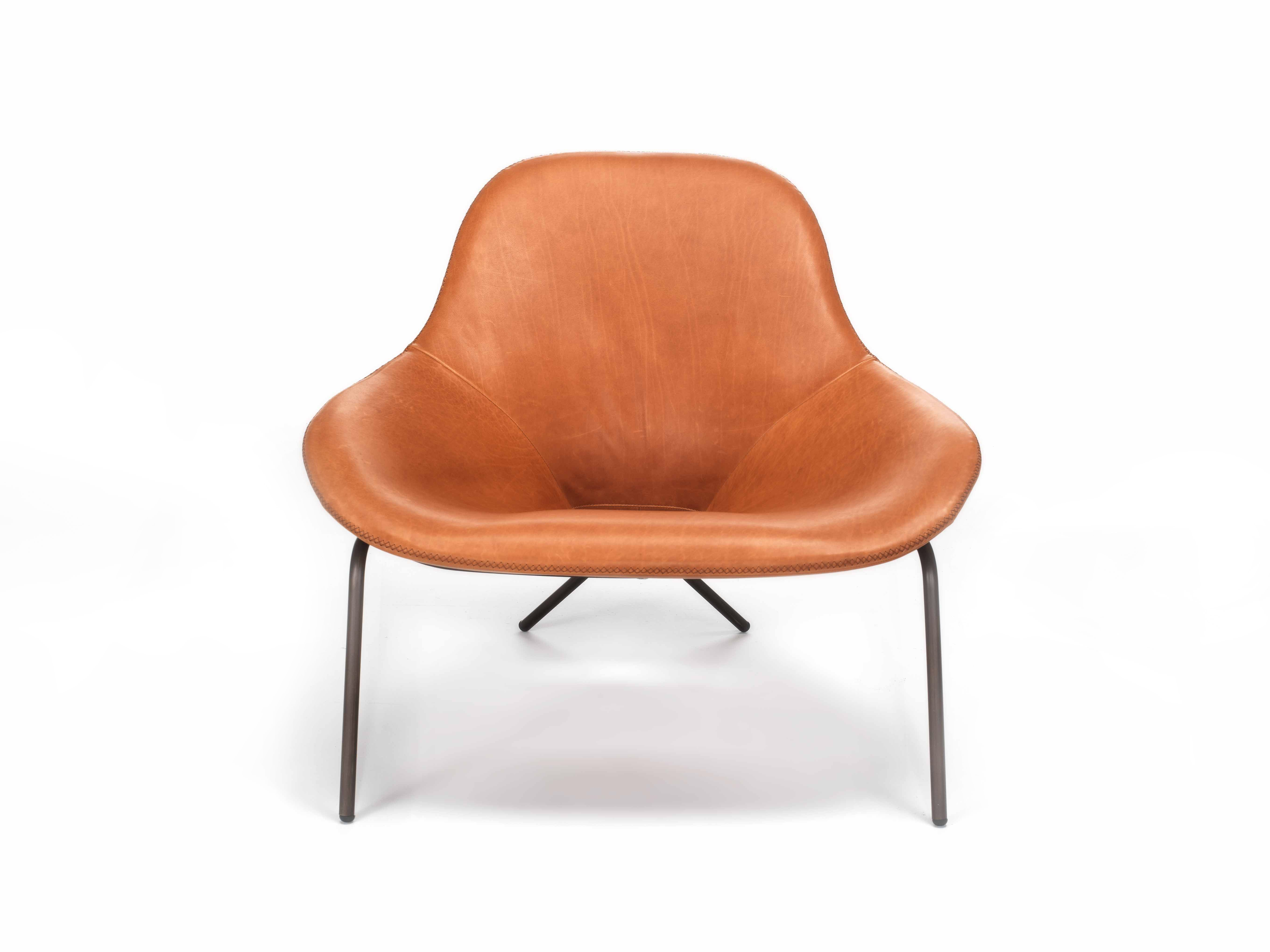 Cross Leg Chair By Magnus Long For The Conran Shop Leather Easy Chair Leather Occasional Chair
