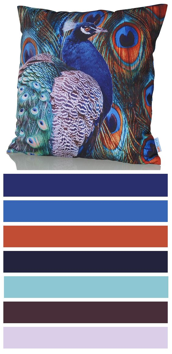 Induce cushion cover with peacock design is magnificent! Peacock is one of the most admired animals and it is a symbol of integrity. This colorful cushion cover is vibrant, powerful and will leave you speechless! Creative interior and exterior design element!  http://www.sunburstoutdoorliving.com/collections/online/products/induce-cushion-cover-60