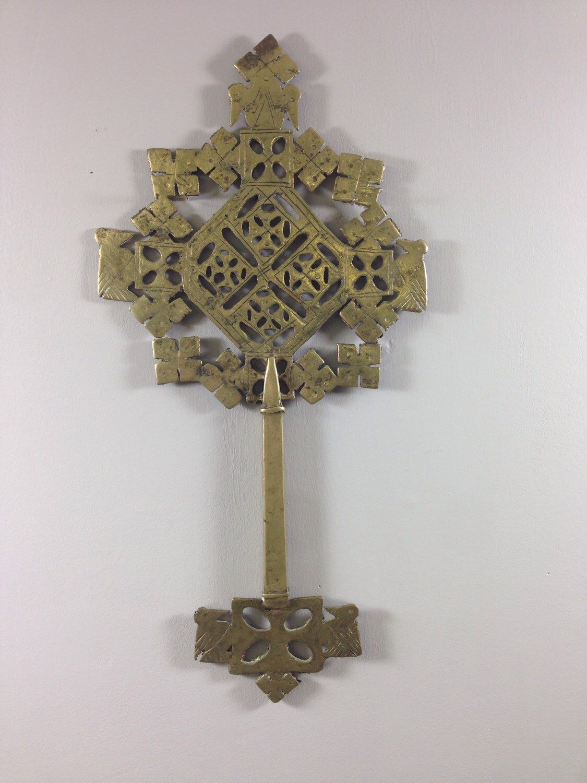 ethiopian cross brass coptic cross scepter ethiopia staff ethiopian cross brass coptic cross scepter ethiopia staff religious handmade hand carved cross home decor gift