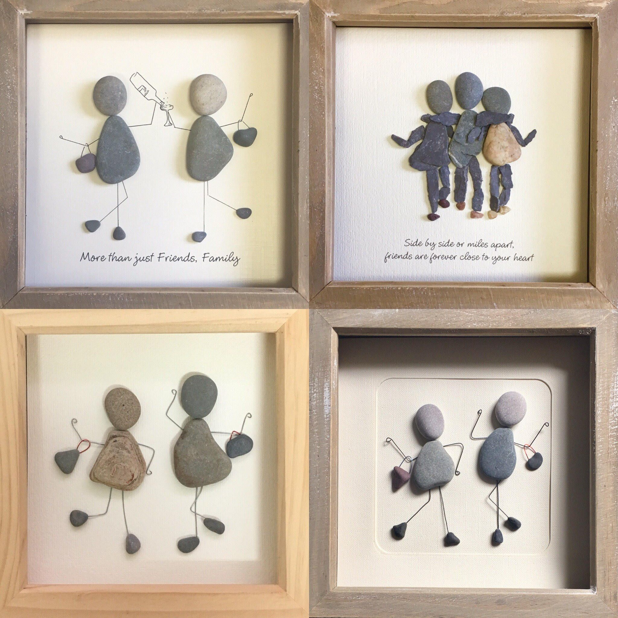 Photo of Best friend Gift, Pebble Art, Pebble Picture; unique gift, personalized, friend, gift, made to order, funny gift, humorous gift, lady gift.