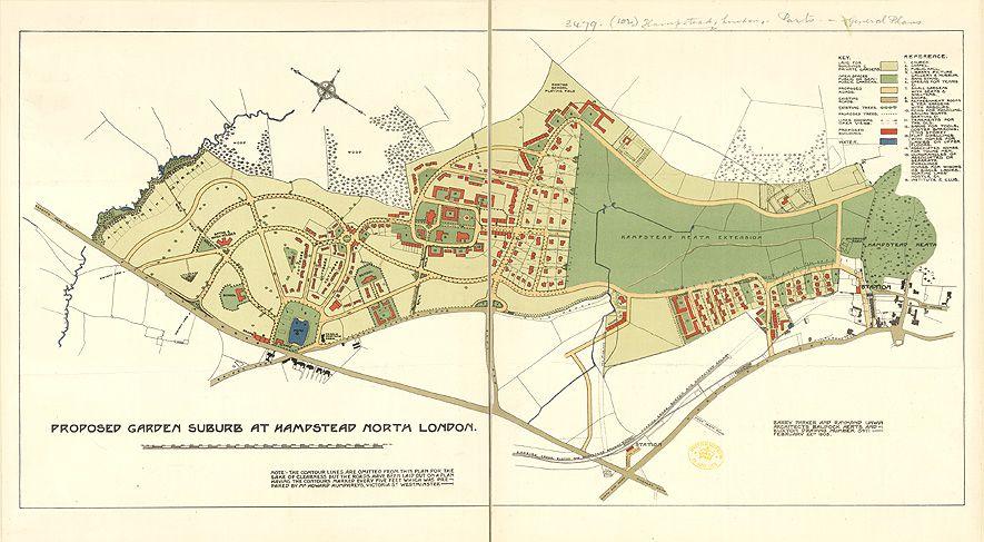 Hampstead Masterplan Suburbs Hampstead Map