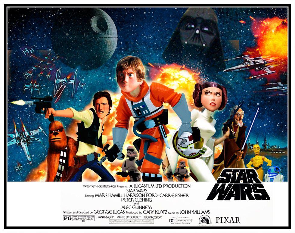 E se Star Wars fosse feito pela Pixar?