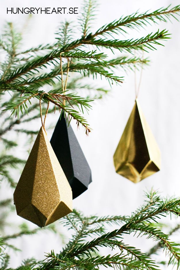 Diy Paper Crystals With Free Template Xmas Decorations Diy