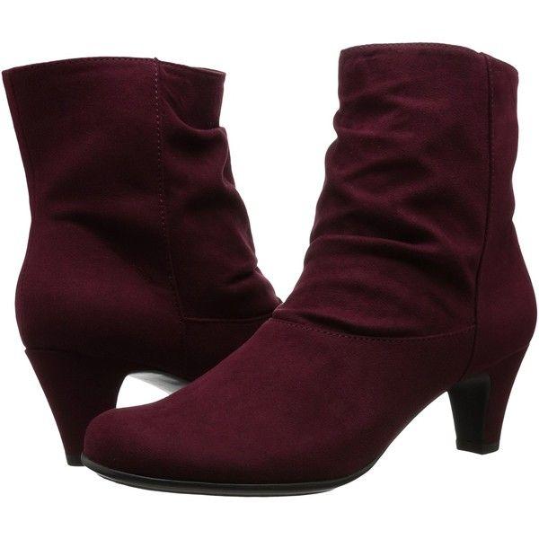 Womens Boots Aerosoles Playbill Wine Fabric