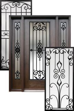 Beau Wrought Iron Door Insert Reminds Me Of The Doors At Some Of The Beautiful  Houses In