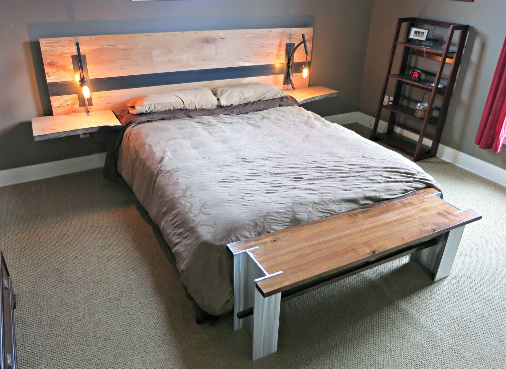 Headboard with built in side tables