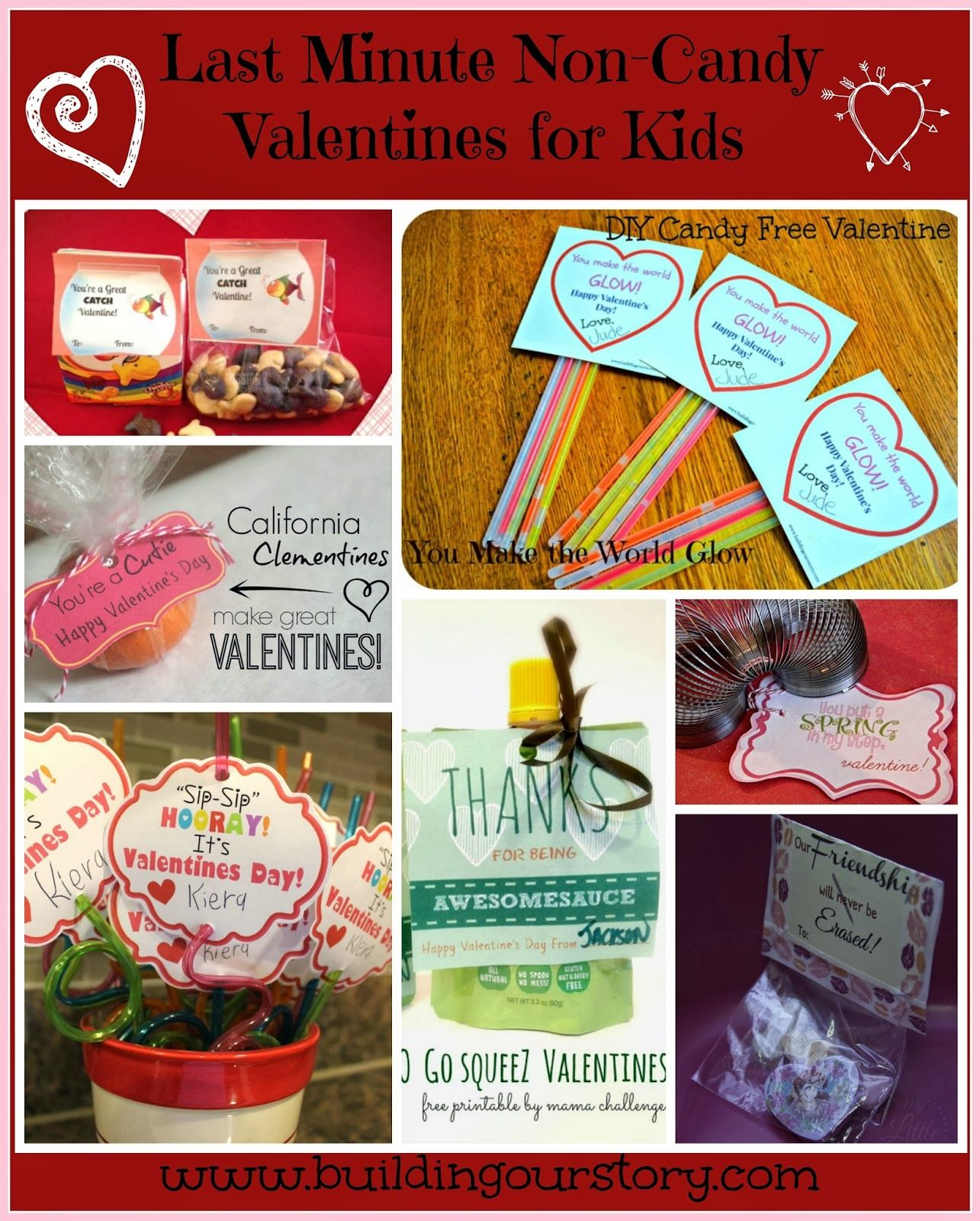 Easy Last Minute Non Candy Valentine Ideas For Kids Valentine S Day Crafts For Kids Valentine Candy Valentine Day Crafts
