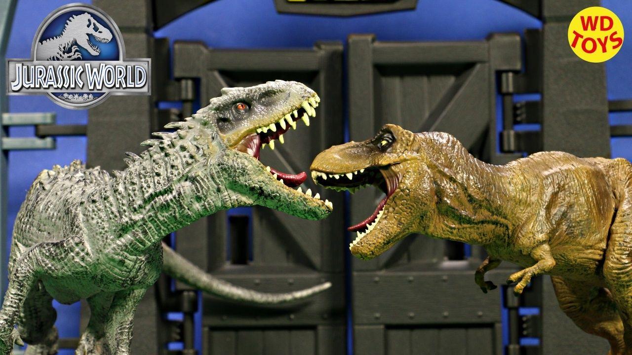 New Jurassic World Movie Toys Indominus Rex Vs T Rex Tyrannosaurus Rex L Jurassic World Movie New Jurassic World Jurassic World