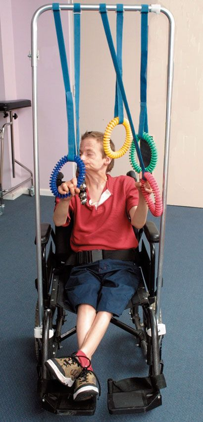 Wheelchair activity frame this adapted peice of equipment for Gross motor skills equipment