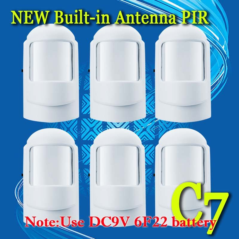 Free Shipping 6 Pcs Lot Wireless 433mhz Or 315mhz Pir Sensor Motion Detector For Gsm Pstn Auto Home Security Alarm System Alarm Systems For Home Home Security
