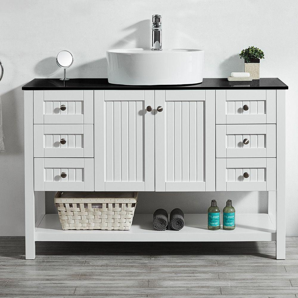 "Modena 48"" Single Bathroom Vanity Set Farmhouse style"