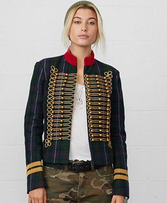 824848a3963ff3 Denim   Supply Ralph Lauren Braided Plaid Military Jacket. I love this  jacket but it is really heavy. Perfect for cold weather. I got it last yr.