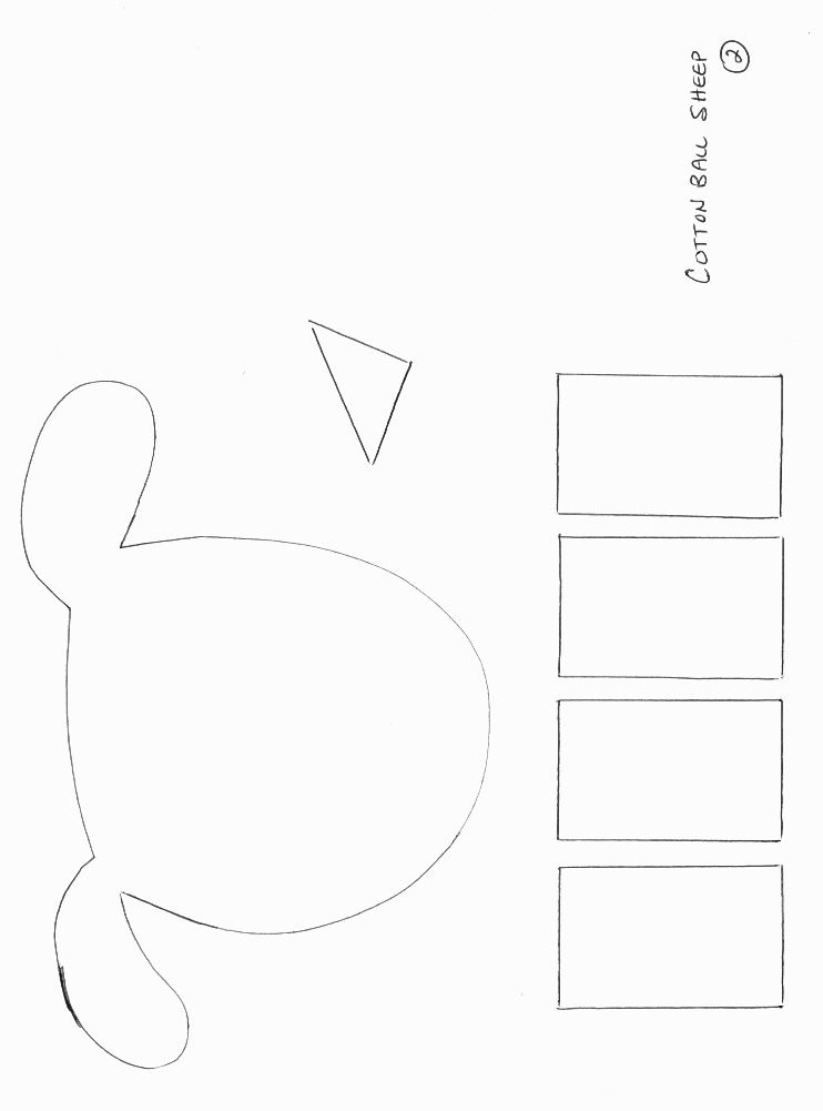 Animals Crafts - Print your Sheep Craft Template 2 at AllKidsNetwork