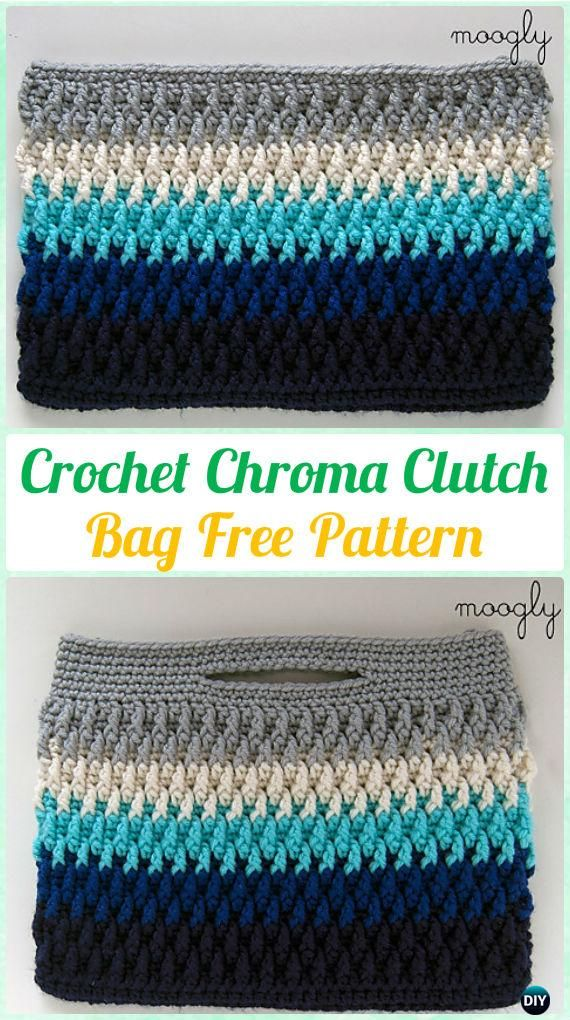Crochet Chroma Clutch Bag Free Pattern [Video] - #Crochet Clutch Bag ...