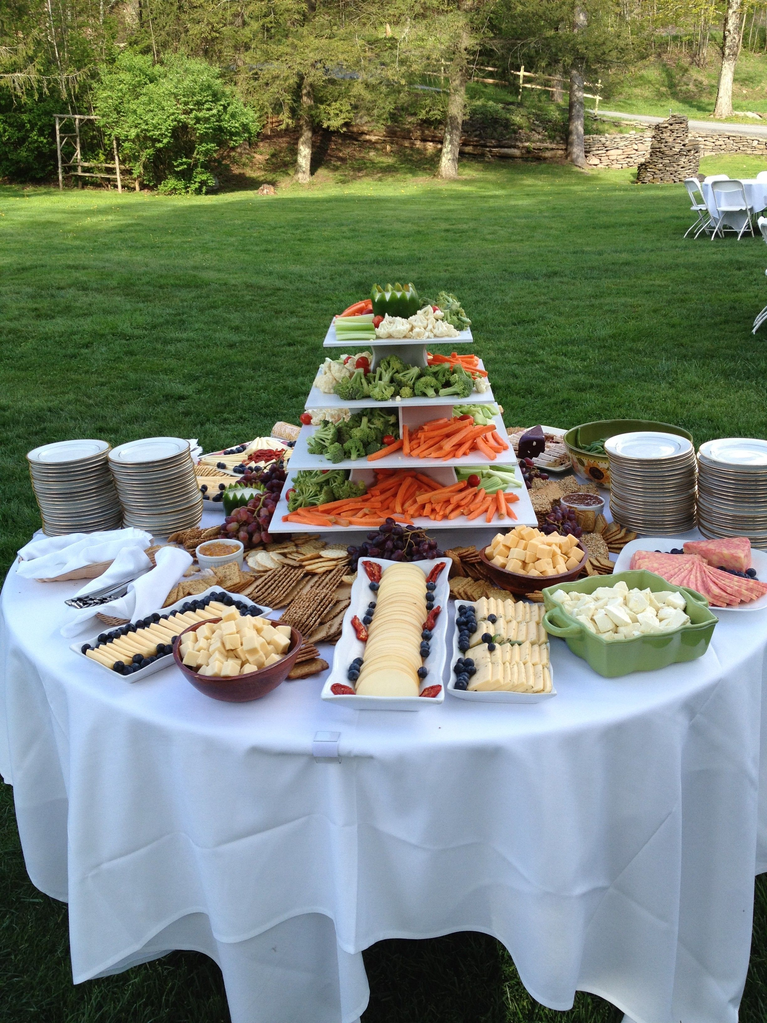Cheese And Crudite Table With Images Buffet Food Diy Wedding