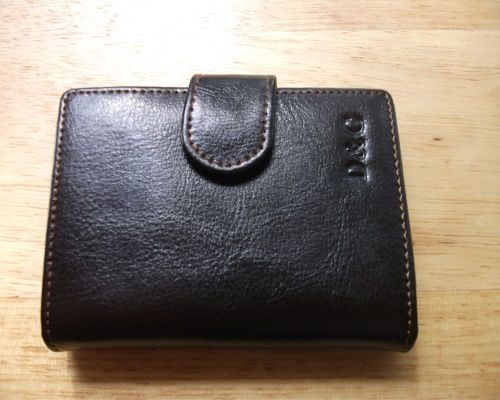 Mens Brown Leather Wallet   SOLD
