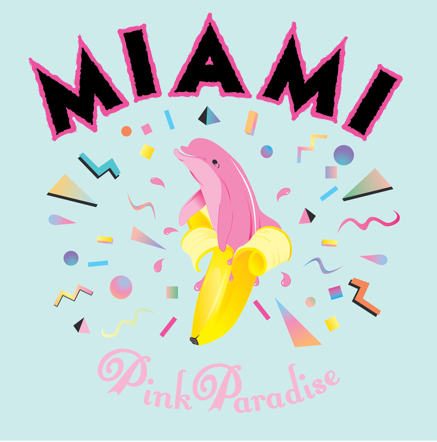 Miami dolphin pink paradise artwork - Pink dolphin logo wallpaper ...
