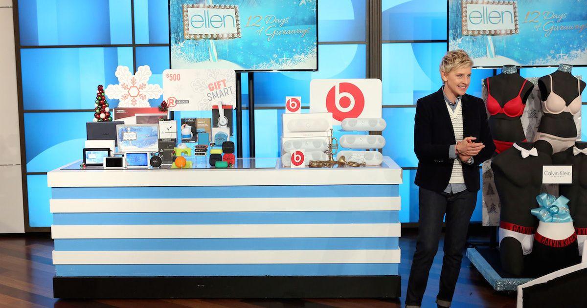 Oprah 12 Days Of Christmas.Ellen Degeneres Giveaway Google Search Gift Giveaway