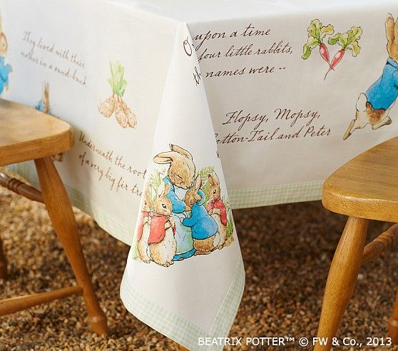 Pbk Peter Rabbit Tablecloth Pottery Barn Kids Peter