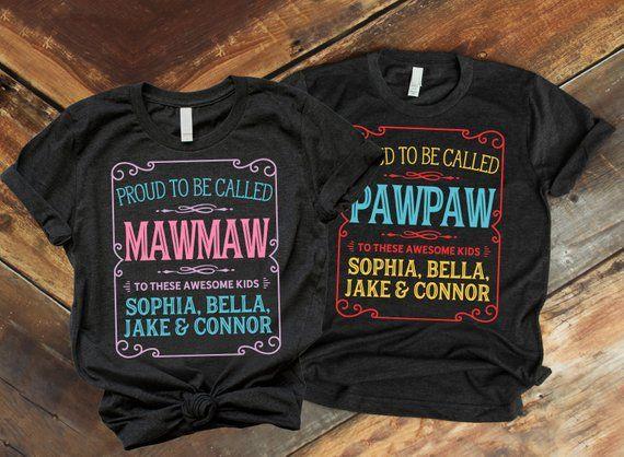 325429f2 Pawpaw T Shirt, Pawpaw Shirt, Mawmaw and Pawpaw, Pawpaw Gift, Pawpaw, Paw  Paw, Custom Pawpaw Shirt,