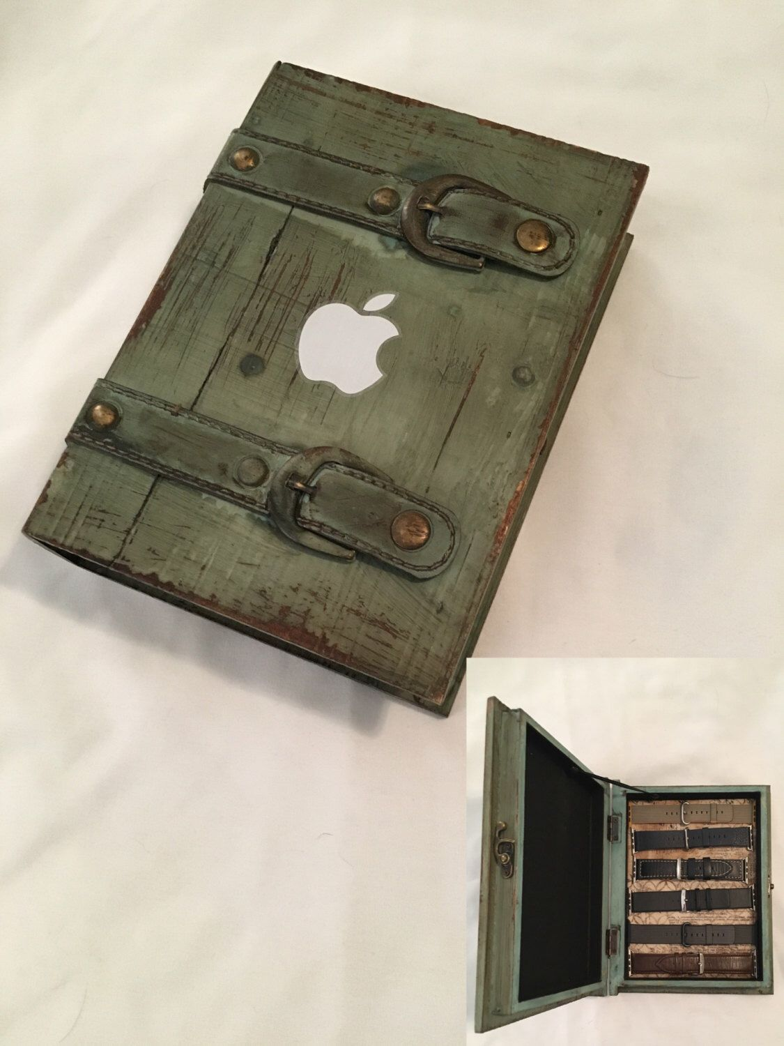 Apple Watch Band Storage Vintage Book By Applevalleywatchbox On Etsy Https Www Etsy Com Listing 474438685 Apple W Apple Watch Bands Watch Bands Apple Watch