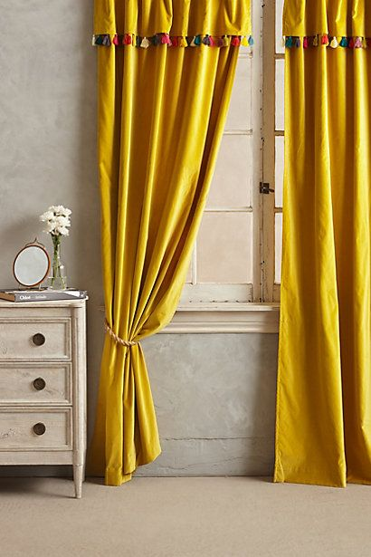 Firenze Velvet Tassel Curtain Stylish Curtains Tassel Curtains