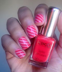 J-6 : Le fameux Candy Cane Nail Art!