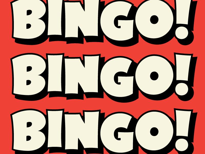 Bingo! | Lettering, Bingo, Types of lettering