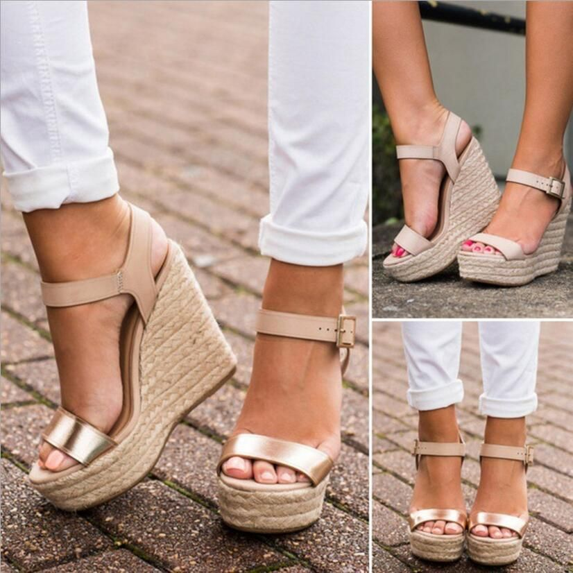 Tacones Altos Sandalias Mujer Plataforma Cuña Bombas Zapatos De 5SA3RLqc4j