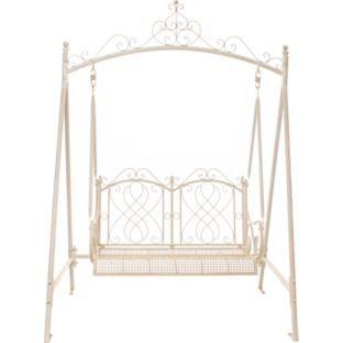 buy antique two seater garden hammock swing   cream at argos co uk   buy antique two seater garden hammock swing   cream at argos co uk      rh   pinterest
