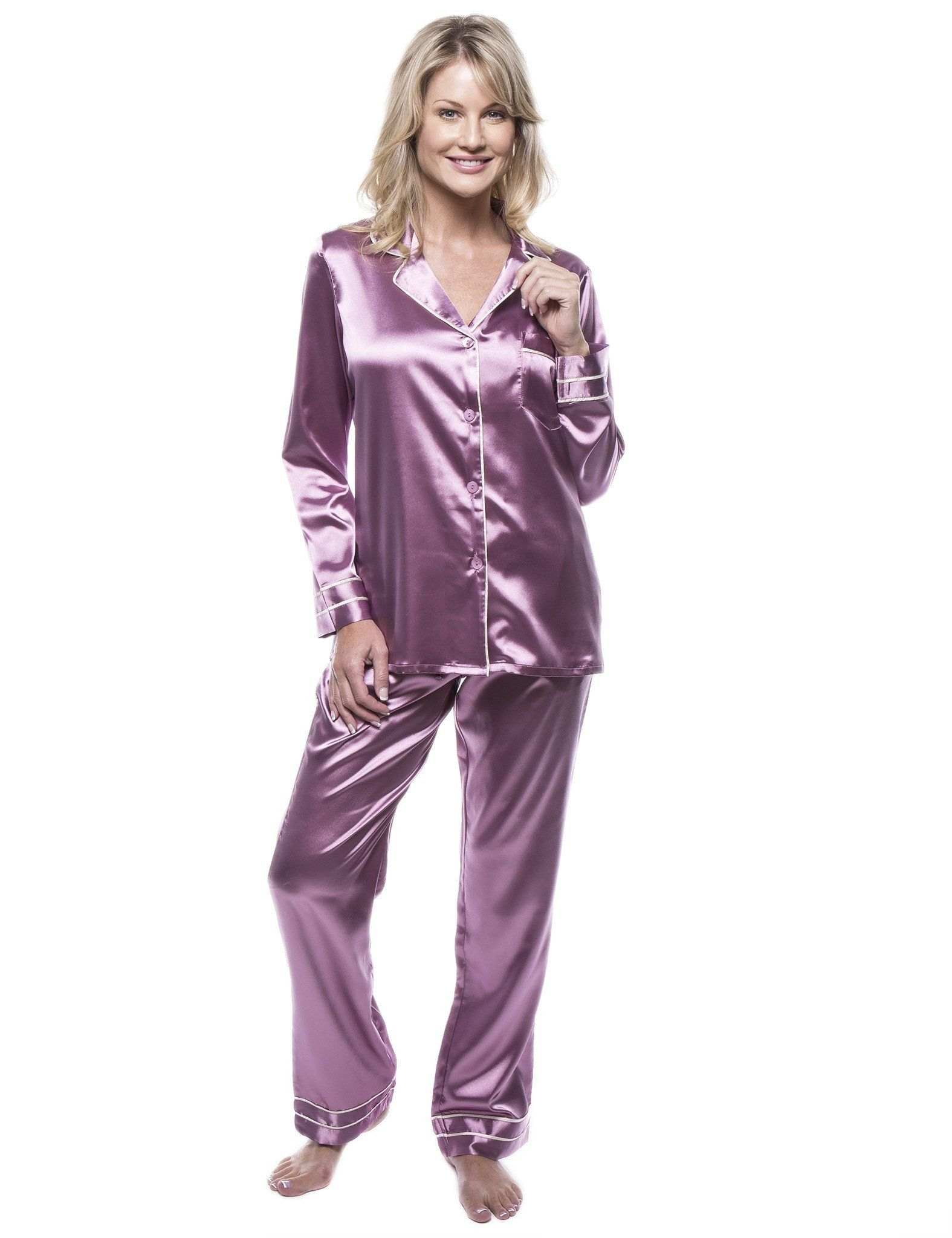489d3164ffc2 Women s Classic Satin Pajama Set in 2019