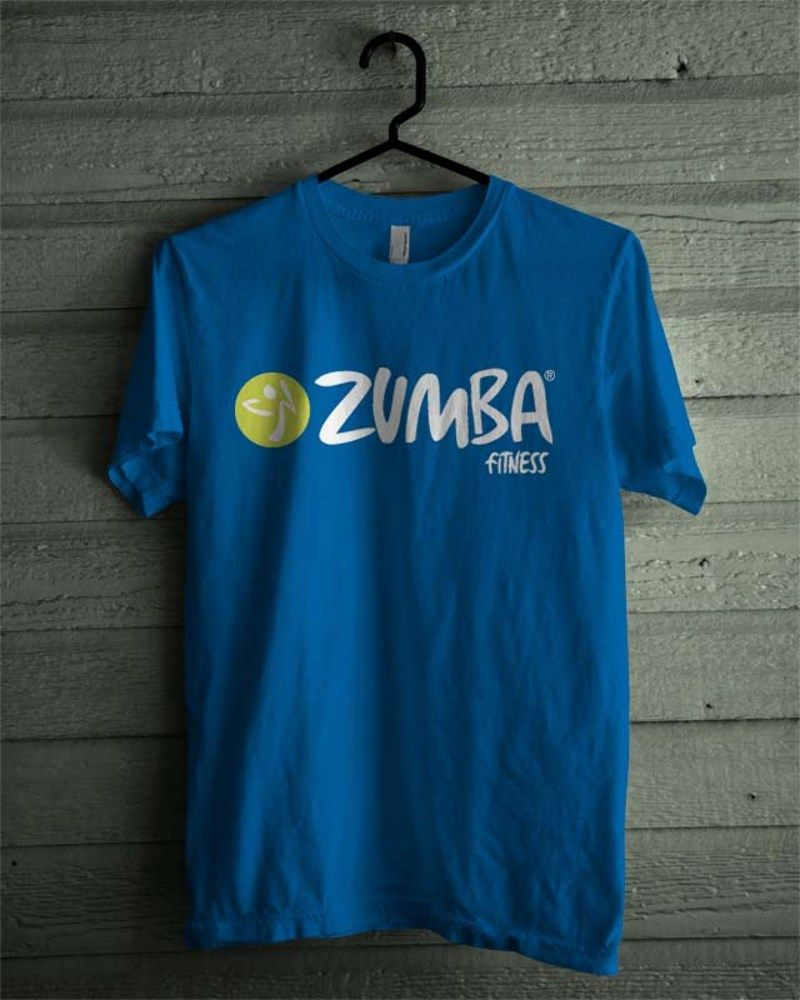 Design t shirt zumba - Zumba Fitness Logo Aerobic Royal Blue Shirt Tee All Size Dalmanaz Clothing On Artfire
