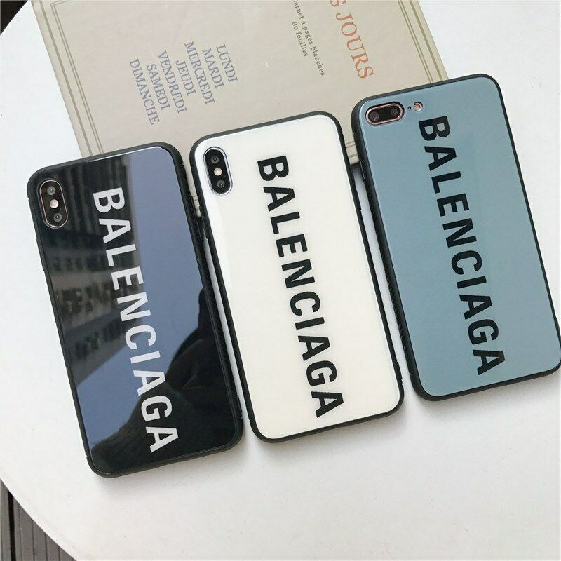 Balenciaga france glass case for iphone xs max xr x 6s 7 8