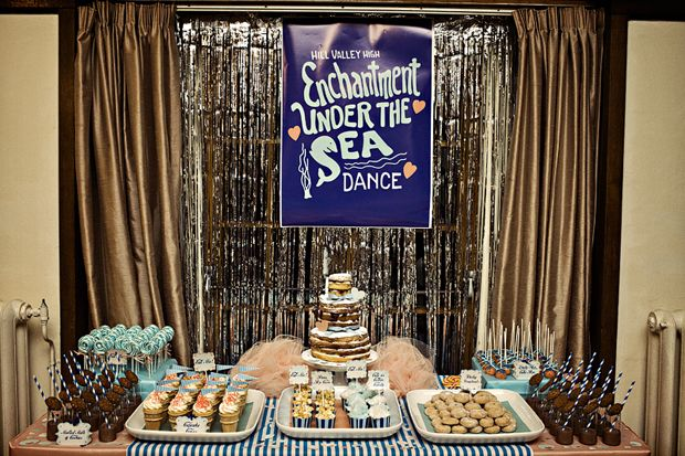 Enchantment Under the Sea bridal shower theme... Back to the Future!