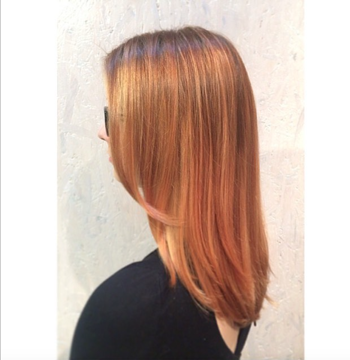 From dark brown to this honeybuttered strawberry blonde hair by Immu