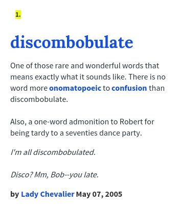 Discombobulated Definition Google Search Meant To Be